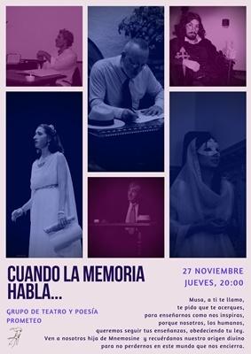Ciclo de Filosofía y Arte, con motivo del DÍA MUNDIAL DE LA FILOSOFÍA, en Nueva Acrópolis Granada. Teatro: