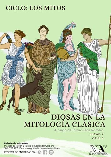 """2ª Charla """"Ciclo Mitos"""": Diosas en la mitología clásica"""