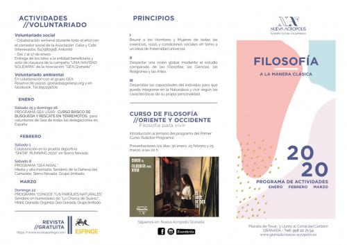 Programa de actividades de invierno 2020.