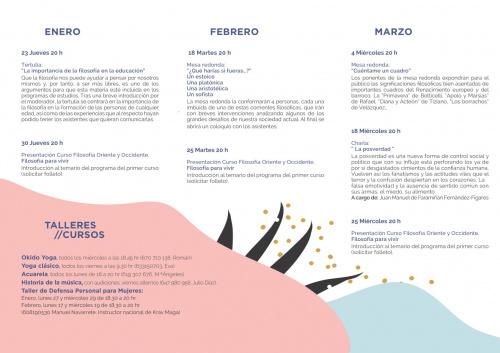 Programa de actividades de invierno 2020