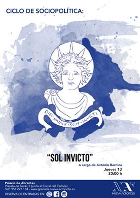 """3ª Charla (Ciclo de Sociopolítica) """"Sol invicto"""""""
