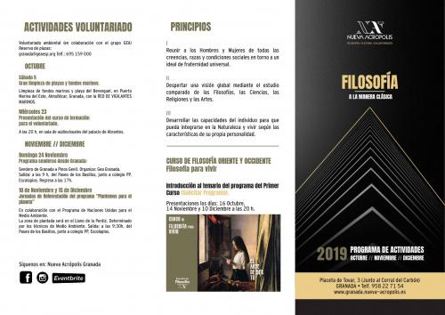 Programa de actividades de otoño: octubre, noviembre y diciembre.